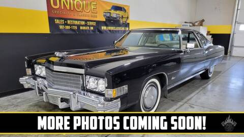 1974 Cadillac Eldorado for sale at UNIQUE SPECIALTY & CLASSICS in Mankato MN
