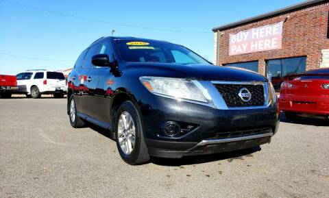2015 Nissan Pathfinder for sale at AUTO BARGAIN, INC. #2 in Oklahoma City OK