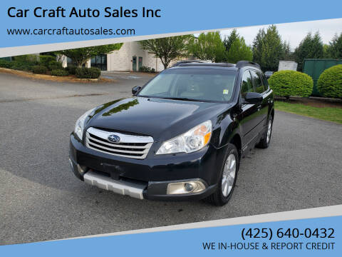 2012 Subaru Outback for sale at Car Craft Auto Sales Inc in Lynnwood WA