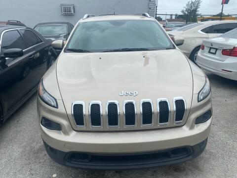 2014 Jeep Cherokee for sale at America Auto Wholesale Inc in Miami FL