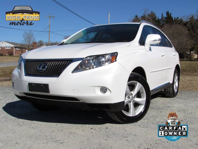 2012 Lexus RX 350 for sale at High-Thom Motors in Thomasville NC