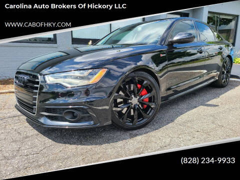 2013 Audi A6 for sale at Carolina Auto Brokers of Hickory LLC in Newton NC