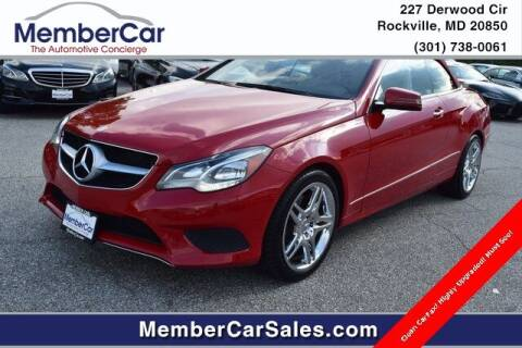 2015 Mercedes-Benz E-Class for sale at MemberCar in Rockville MD