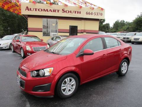 2012 Chevrolet Sonic for sale at Automart South in Alabaster AL