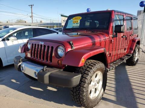 2013 Jeep Wrangler Unlimited for sale at Hugo Motors INC in El Paso TX