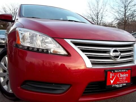 2013 Nissan Sentra for sale at 1st Choice Auto Sales in Fairfax VA