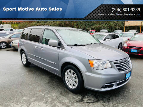 2013 Chrysler Town and Country for sale at Sport Motive Auto Sales in Seattle WA