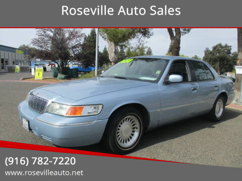 1999 Mercury Grand Marquis for sale at Roseville Auto Sales in Roseville CA