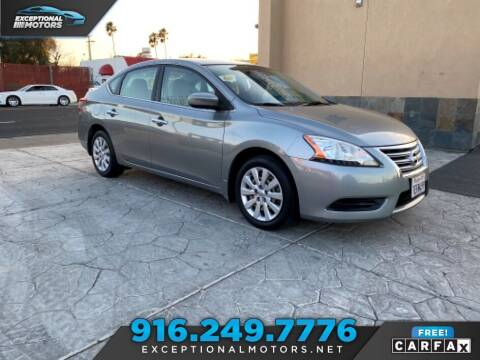 2013 Nissan Sentra for sale at Exceptional Motors in Sacramento CA