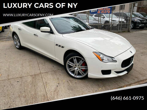 2015 Maserati Quattroporte for sale at LUXURY CARS OF NY in Queens NY