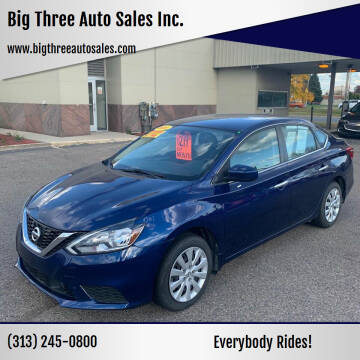 2018 Nissan Sentra for sale at Big Three Auto Sales Inc. in Detroit MI