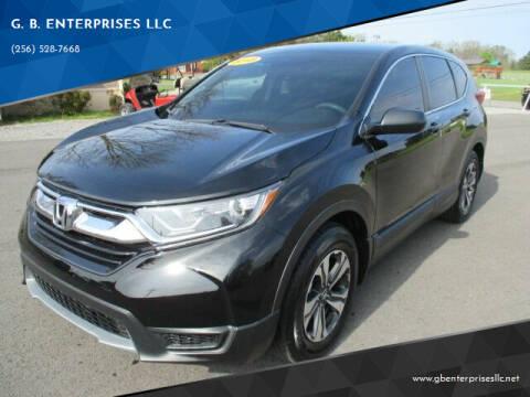 2018 Honda CR-V for sale at G. B. ENTERPRISES LLC in Crossville AL