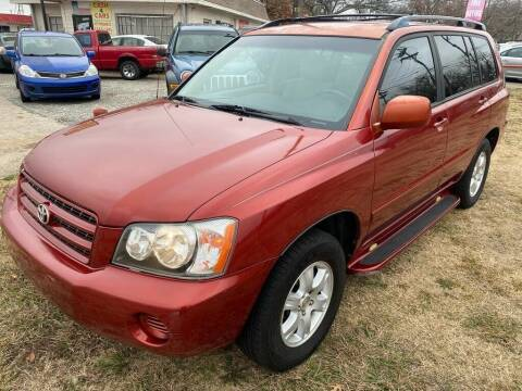 2003 Toyota Highlander for sale at Texas Select Autos LLC in Mckinney TX