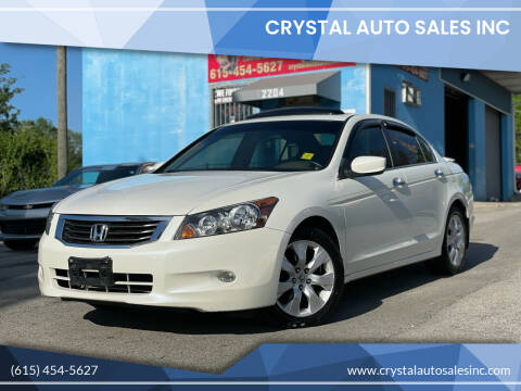 2008 Honda Accord for sale at Crystal Auto Sales Inc in Nashville TN