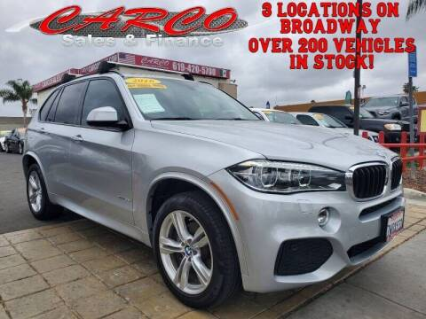2016 BMW X5 for sale at CARCO SALES & FINANCE - CARCO OF POWAY in Poway CA