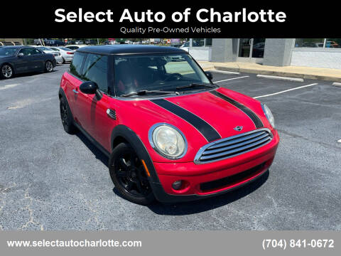 2010 MINI Cooper for sale at Select Auto of Charlotte in Matthews NC