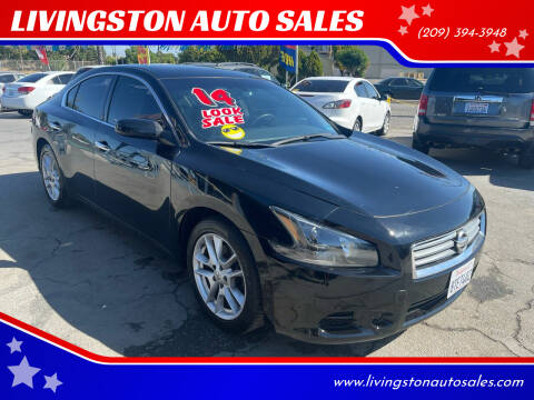 2014 Nissan Maxima for sale at LIVINGSTON AUTO SALES in Livingston CA
