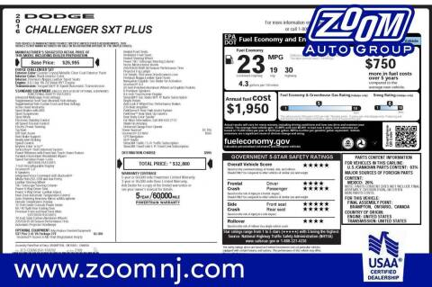 2016 Dodge Challenger for sale at Zoom Auto Group in Parsippany NJ