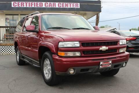2004 Chevrolet Suburban for sale at CERTIFIED CAR CENTER in Fairfax VA
