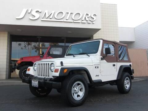 2002 Jeep Wrangler for sale at J'S MOTORS in San Diego CA
