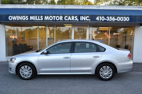 2014 Volkswagen Passat for sale at Owings Mills Motor Cars in Owings Mills MD