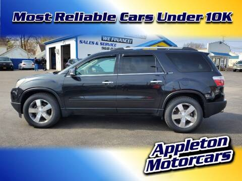 2010 GMC Acadia for sale at Appleton Motorcars Sales & Service in Appleton WI