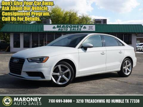 2016 Audi A3 for sale at Maroney Auto Sales in Humble TX