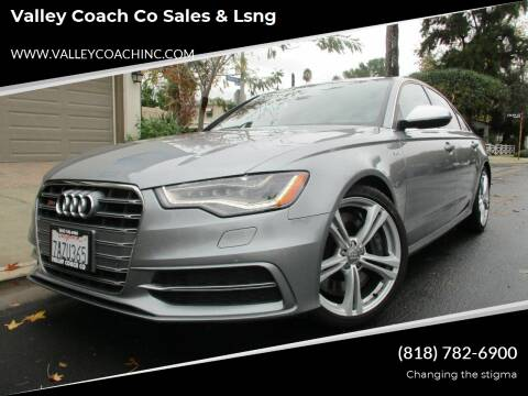 2013 Audi S6 for sale at Valley Coach Co Sales & Lsng in Van Nuys CA