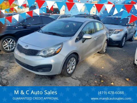 2013 Kia Rio for sale at M & C Auto Sales in Toledo OH