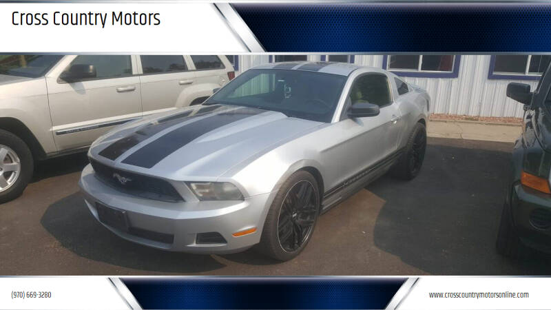 2012 Ford Mustang for sale at Cross Country Motors in Loveland CO