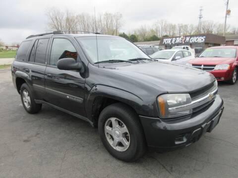 2004 Chevrolet TrailBlazer for sale at Fox River Motors, Inc in Green Bay WI