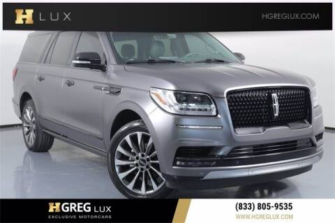 2019 Lincoln Navigator L for sale at HGREG LUX EXCLUSIVE MOTORCARS in Pompano Beach FL