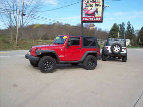 2011 Jeep Wrangler for sale at Summit Auto Inc in Waterford PA