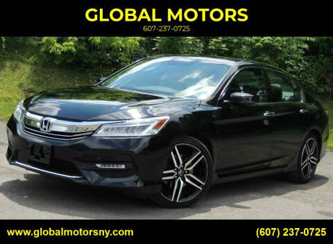 2016 Honda Accord for sale at GLOBAL MOTORS in Binghamton NY