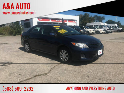 2011 Toyota Corolla for sale at A&A AUTO in Fairhaven MA