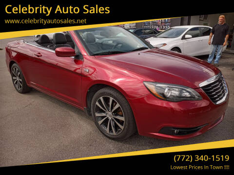 2013 Chrysler 200 Convertible for sale at Celebrity Auto Sales in Port Saint Lucie FL