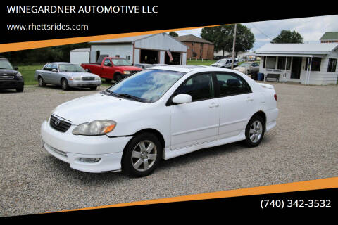 2007 Toyota Corolla for sale at WINEGARDNER AUTOMOTIVE LLC in New Lexington OH