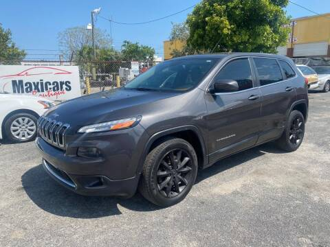 2014 Jeep Cherokee for sale at Maxicars Auto Sales in West Park FL