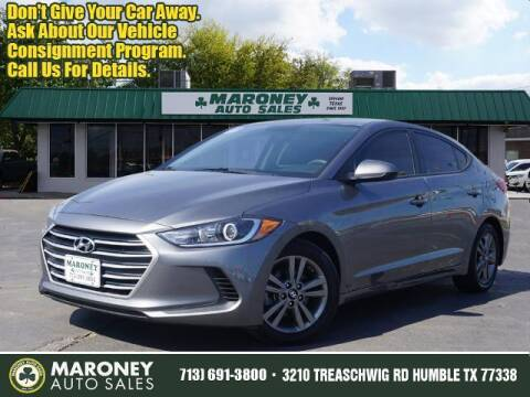 2018 Hyundai Elantra for sale at Maroney Auto Sales in Humble TX
