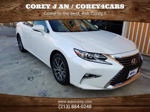 2016 Lexus ES 350 for sale at WWW.COREY4CARS.COM / COREY J AN in Los Angeles CA