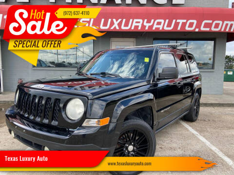 2012 Jeep Patriot for sale at Texas Luxury Auto in Cedar Hill TX