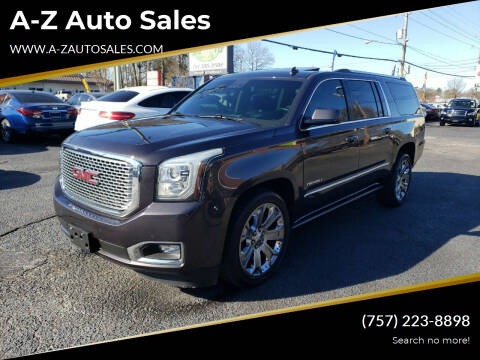 2015 GMC Yukon XL for sale at A-Z Auto Sales in Newport News VA