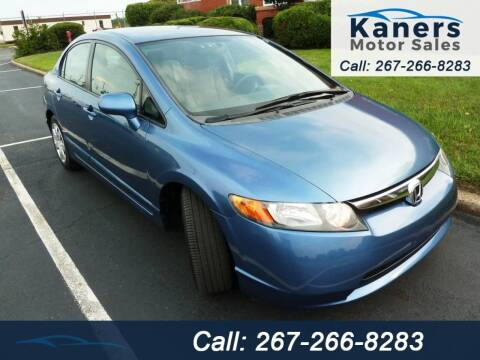 2008 Honda Civic for sale at Kaners Motor Sales in Huntingdon Valley PA
