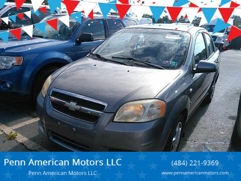 2008 Chevrolet Aveo for sale at Penn American Motors LLC in Allentown PA