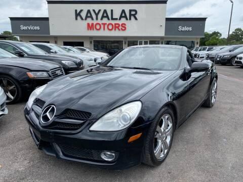 2009 Mercedes-Benz SLK for sale at KAYALAR MOTORS in Houston TX