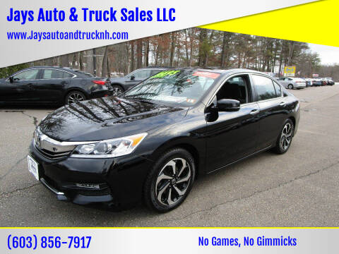 2017 Honda Accord for sale at Jays Auto & Truck Sales LLC in Loudon NH