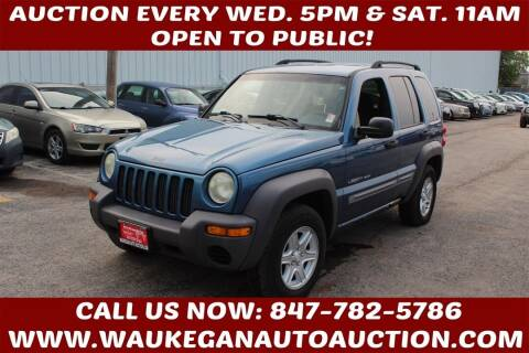 2003 Jeep Liberty for sale at Waukegan Auto Auction in Waukegan IL