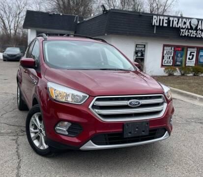 2017 Ford Escape for sale at Rite Track Auto Sales in Canton MI