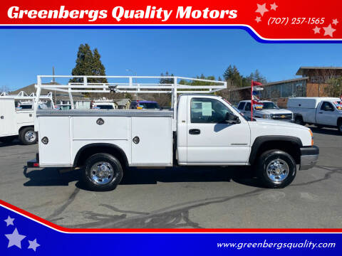 2003 Chevrolet Silverado 2500HD for sale at Greenbergs Quality Motors in Napa CA
