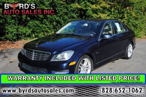 2012 Mercedes-Benz C-Class for sale at Byrds Auto Sales in Marion NC